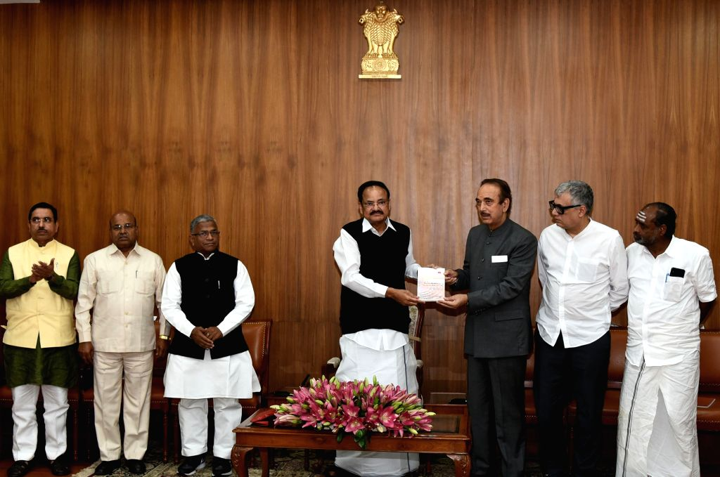 Vice President M Venkaiah Naidu releases the publication ??? 'Rajya Sabha: The Journey Since 1952' in the presence of leaders of various political parties and groups, in New Delhi on Nov. ... - M Venkaiah Naidu