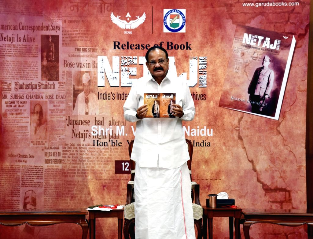Vice President M. Venkaiah Naidu releases the book ???NETAJI-India???s Independence and British Archives??? along with its Hindi version, in New Delhi on Aug 12, 2020. - M. Venkaiah Naidu