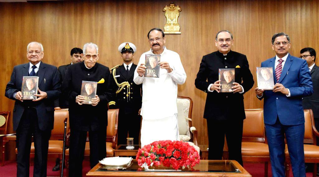 Vice President M. Venkaiah Naidu releases the book titled 'TRG-An Enigma', in New Delhi on Jan 27, 2020. - M. Venkaiah Naidu