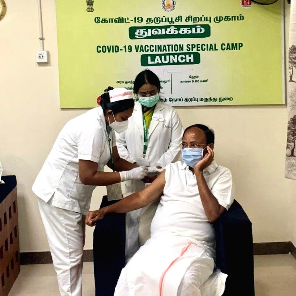 Vice President Naidu takes home-grown jab in Chennai. - Naidu