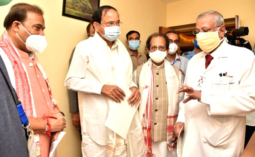 Vice President of India M. Venkaiah Naidu attend the inauguration ceremony the PET-MRI Wing at State Cancer Institute, GMCH in presence of Assam Chief Minister Dr. Himanta Biswa Sarma and ... - M. Venkaiah Naidu