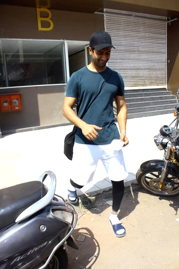 Vicky kaushal spotted at gym in Andheri on Monday 01st March 2021.