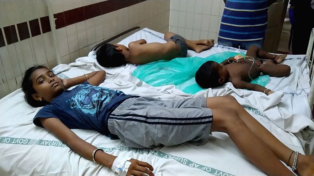 Victims of the gas leakage at the LG Polymers unit located at RR Venkatapuram near Gopalapatnam in Visakhapatnam, Andhra Pradesh that left one minor among 7 people dead, more than 70 ...