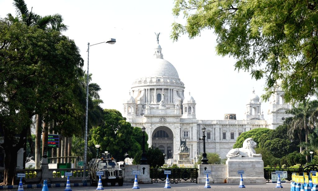 Victoria Memorial bears a deserted look at Maidan during the extended nationwide lockdown imposed to mitigate the spread of coronavirus, in Kolkata on May 9, 2020.