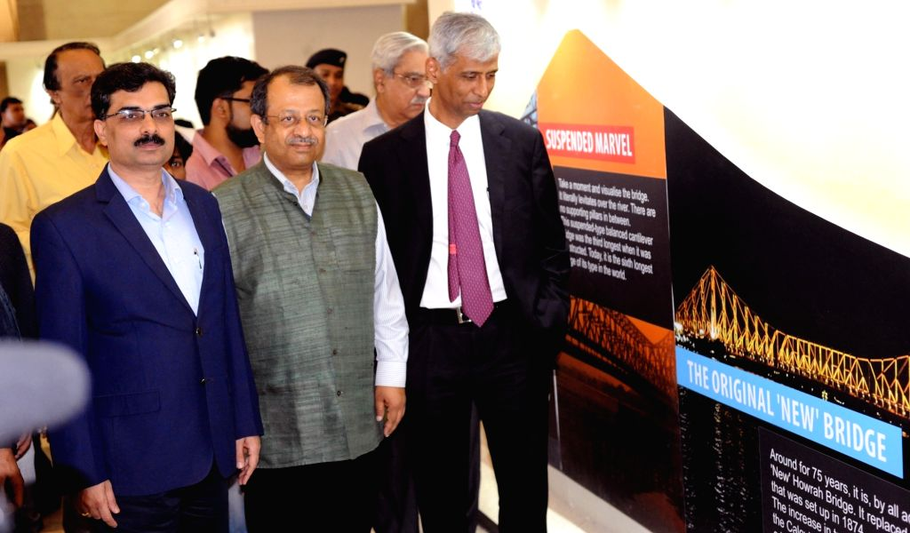 Victoria Memorial Hall Secretary and Curator Jayanta Sengupta, Kolkata Port Trust of India Chairman Vinit Kumar, Tata Steel - Investment and New Ventures Group Director Dibyendu Bose at the ... - Vinit Kumar and Dibyendu Bose