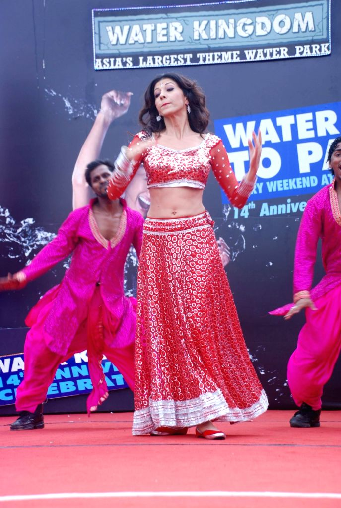 Vida Samadzai during the 14th anniversary celebration of Water Kingdom in Mumbai.