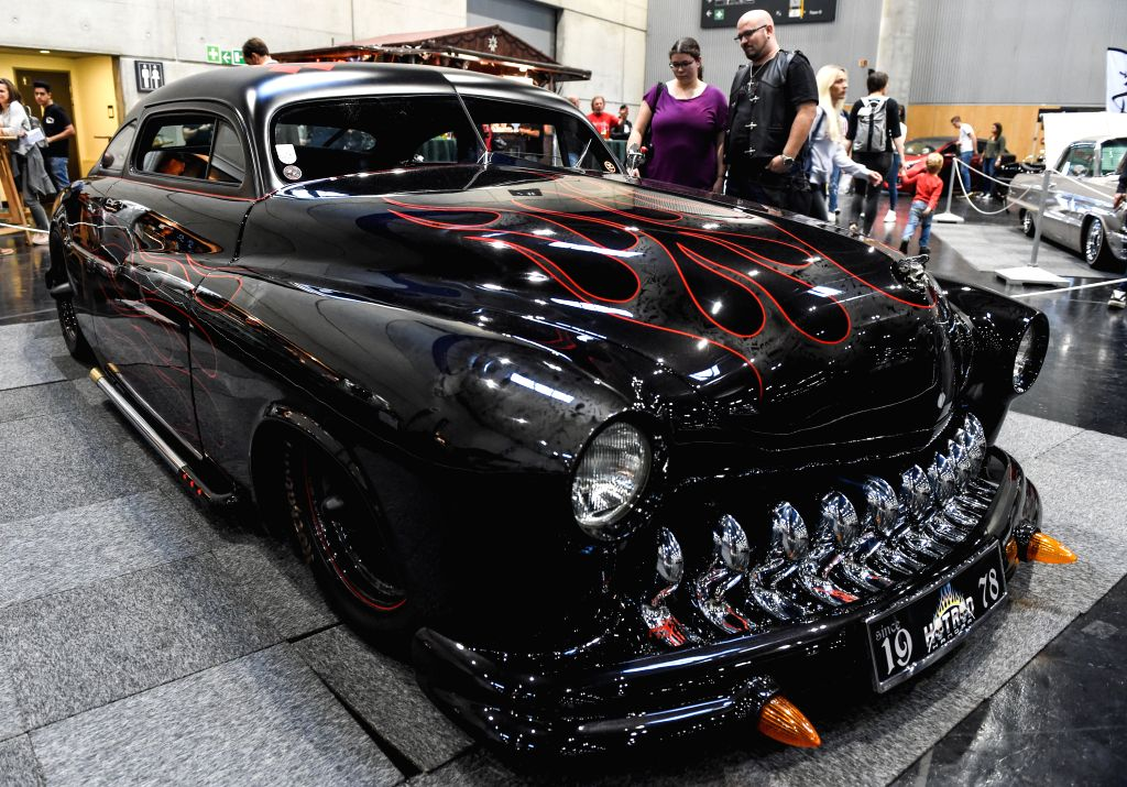 VIENNA, Oct. 27, 2019 - A car is displayed at the Custom Wheels Vienna in Vienna, Austria, Oct. 27, 2019. As an event for customizing, performance and motorsport in Vienna, the Custom Wheels Vienna ...