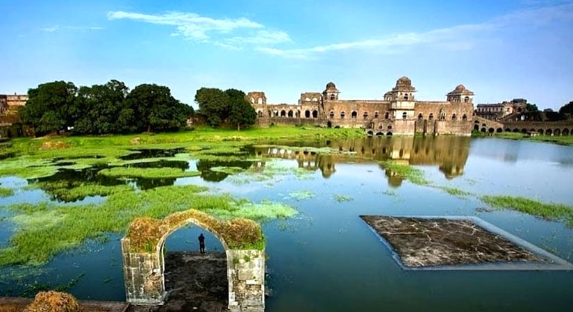 View of Mandu from across the river.