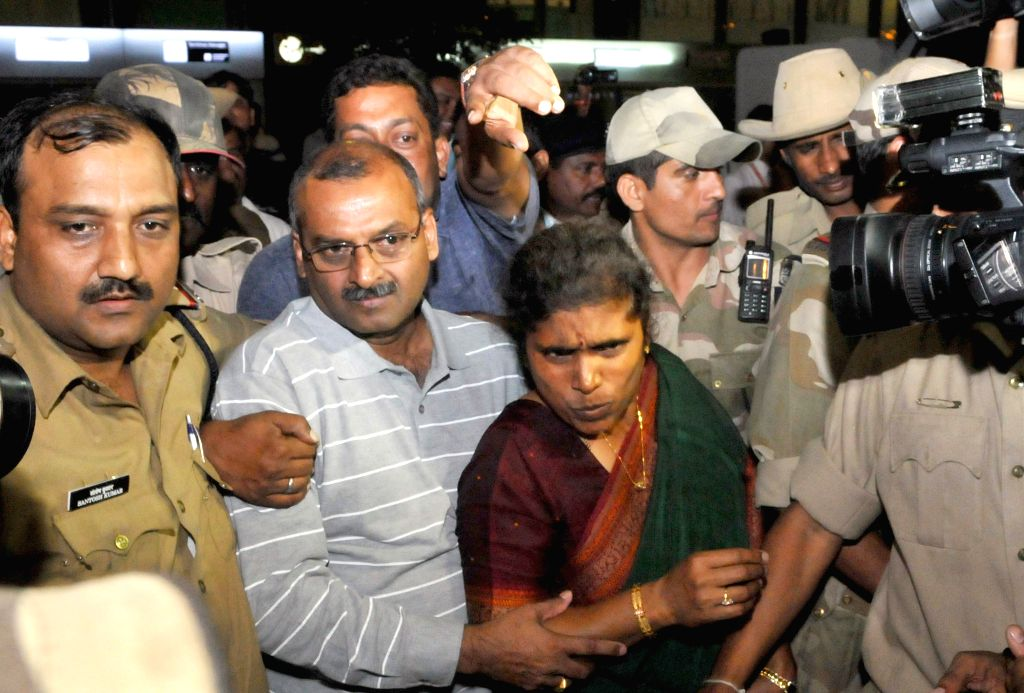 Vijay Kumar who was abducted along with two others in Sirte in Libya, arrives at Kempegowda International Airport, in Bengaluru, on Aug 4, 2015. Four Indian men, including three who were ...