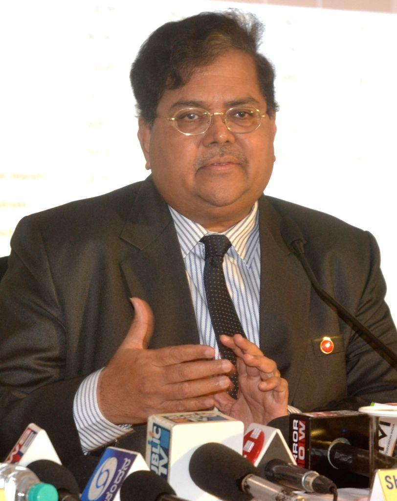 Vijaya Bank MD and CEO R A Sankara Narayanan addresses a press conference in Bengaluru, on Jan 24, 2018.