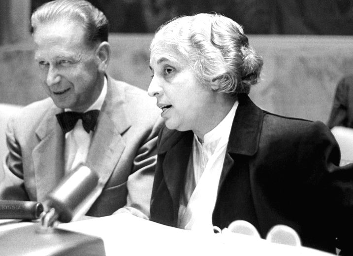 Vijaya Lakshmi Pandit became the first woman elected president of the United Nations General Assembly in 1953. (Photo: UN/IANS)