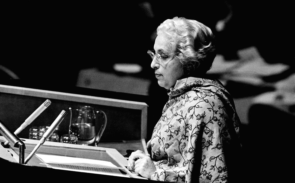 Vijayalakshmi Pandit was the first woman to be president of the United Nations General Assembly.