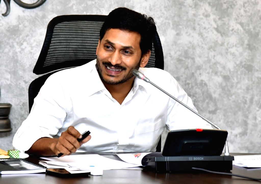 Vijayawada: Andhra Pradesh Chief Minister Y.S. Jagan Mohan Reddy presides over a meeting on preventive measures to curb canal pollution and solid waste management, in Vijayawada on Oct 23, 2019. (Photo: IANS) - Y.