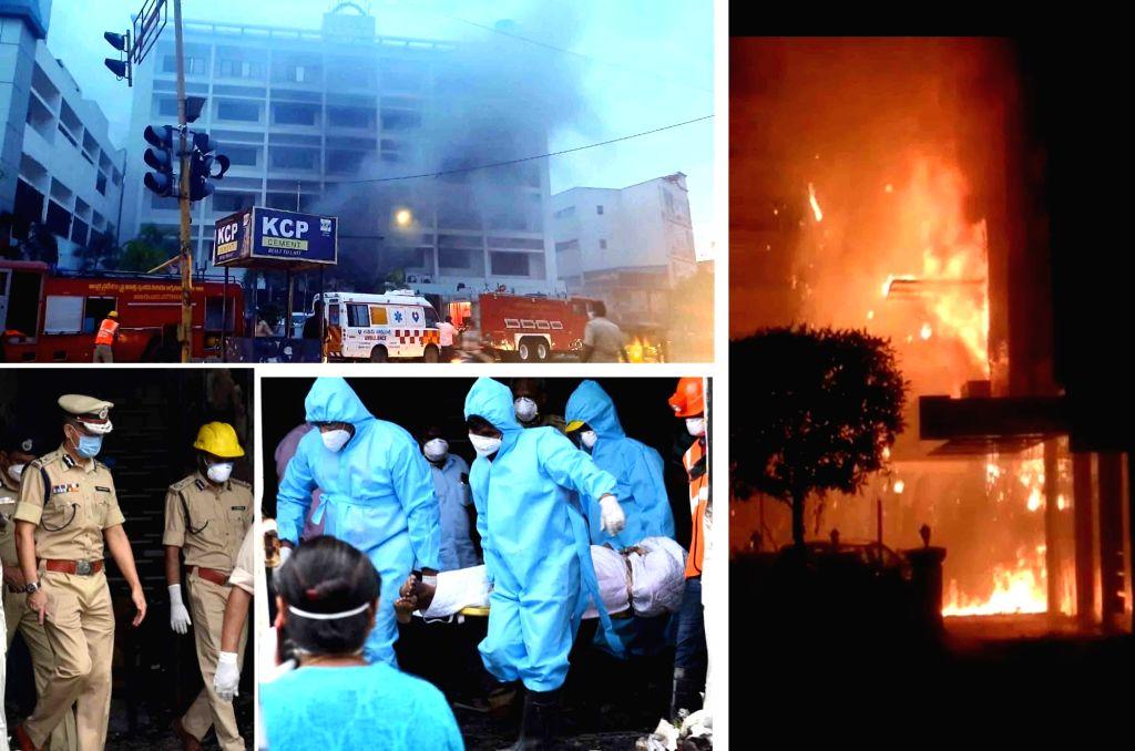 Vijayawada : Death toll in Vijayawada fire incident rises to 19. (Photo: IANS)