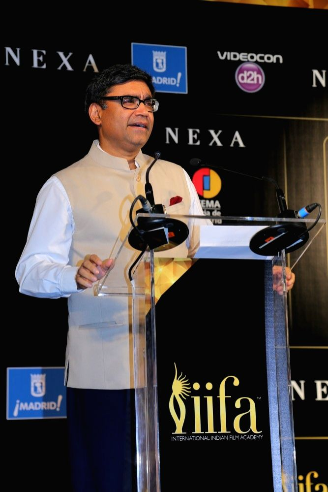 Vikram Misri, Ambassador of India to Spain during the IIFA 2016 opening press conference in Madrid on June 23, 2016.