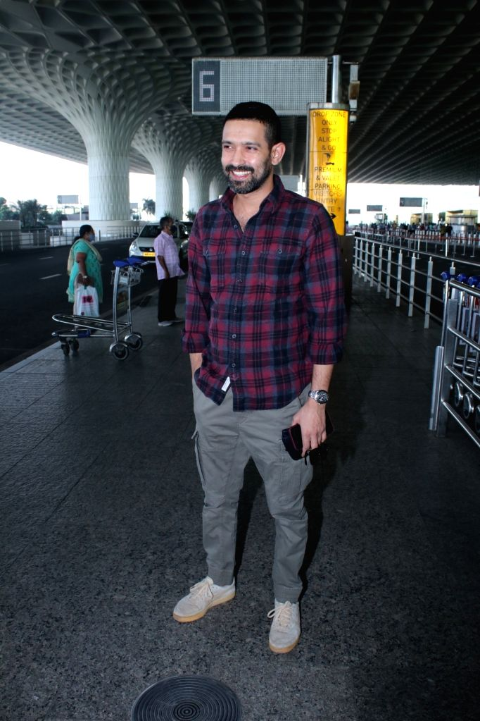 Vikrant Massey spotted at airport departure on Tuesday 02nd March, 2021.