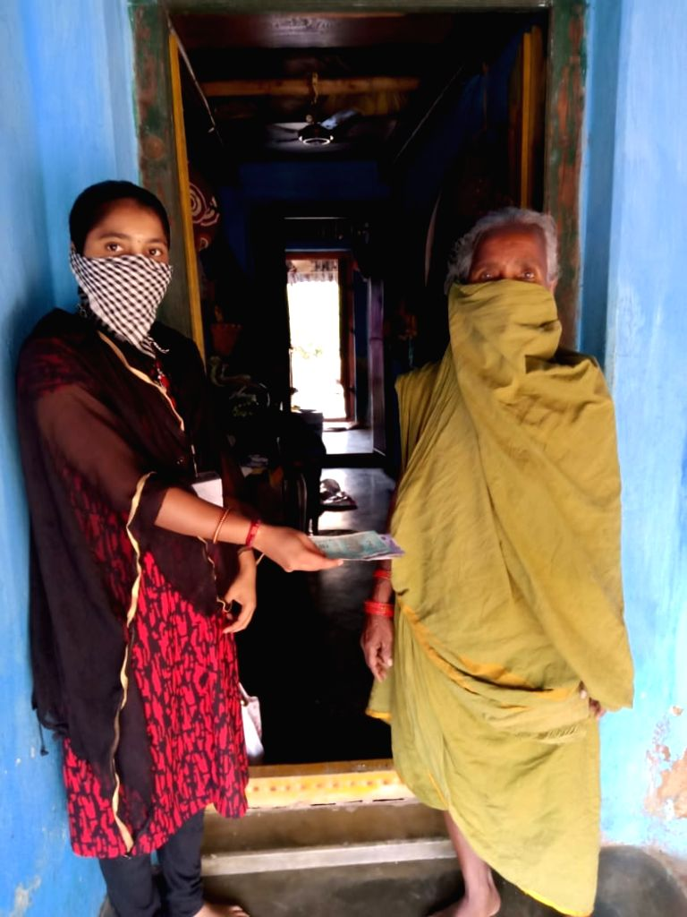Village and Ward volunteers have fanned out to the doorstep of beneficiaries to complete the pension disbursement in the state. The volunteers have taken precautionary measures against coronavirus ...