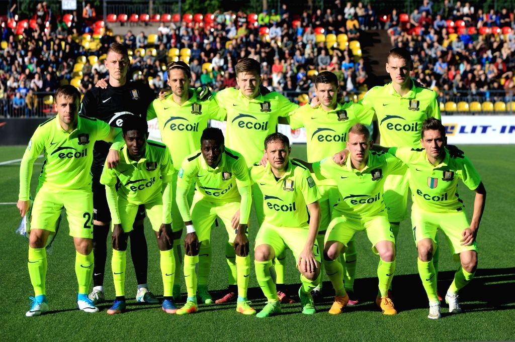 VILNIUS, July 7, 2017 - Players of FK Trakai pose for group photo before the UEFA Europa League first qualifying round second leg game between FK Trakai and St. Johnstone in Vilnius, Lithuania, on ...