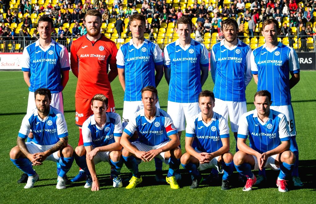 VILNIUS, July 7, 2017 - Players of St. Johnstone pose for group photo before the UEFA Europa League first qualifying round second leg game between FK Trakai and St. Johnstone in Vilnius, Lithuania, ...
