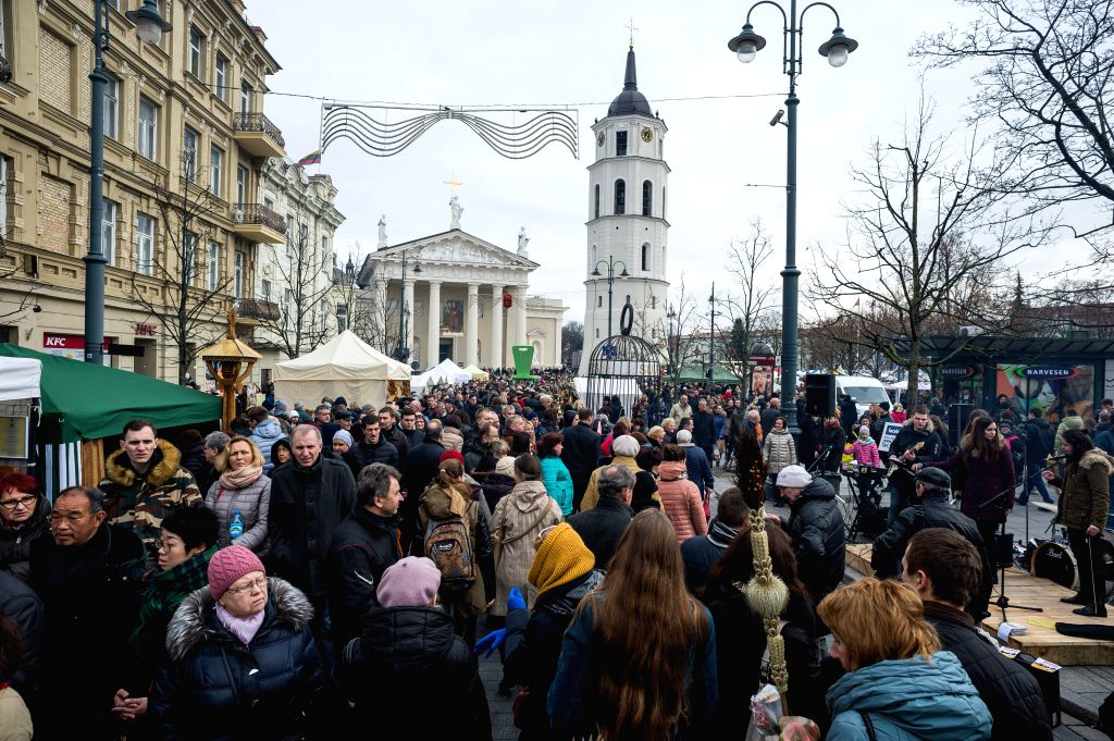 VILNIUS, March 4, 2017 - People visit the Kaziukas Fair in Vilnius, Lithuania, on March 4, 2017. Lithuania holds a three-day celebration for the 400-year-old Kaziukas Fair from Friday till Sunday. ...