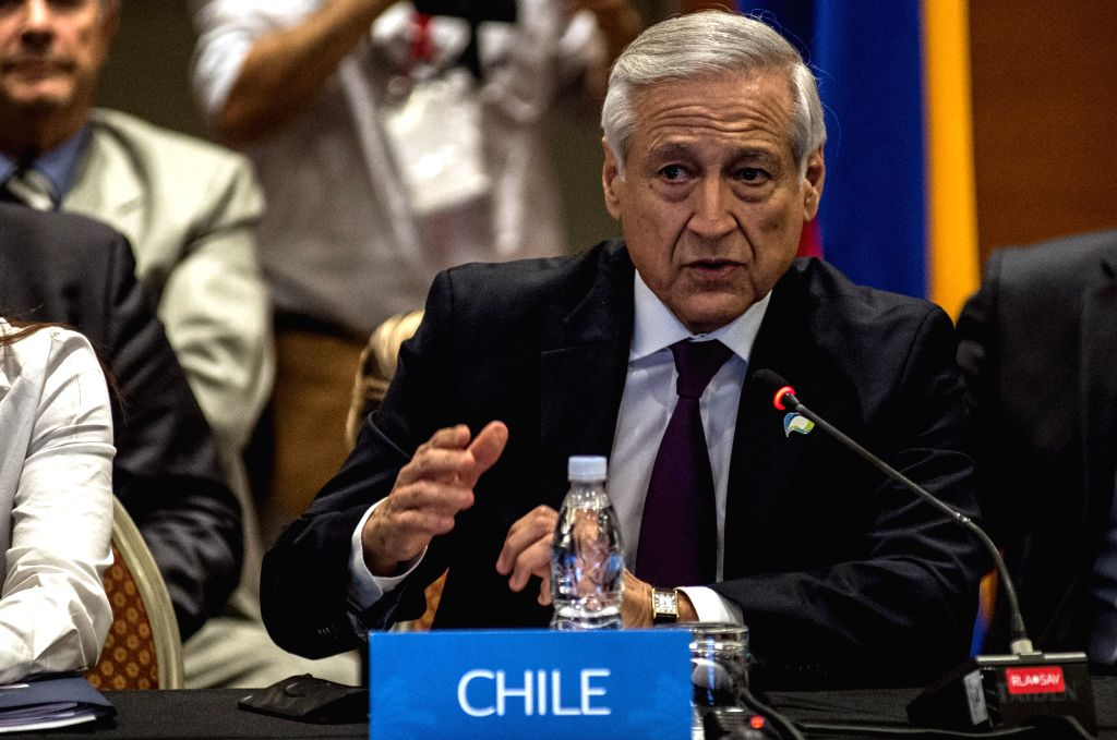 VINA DEL MAR, March 15, 2017 - Chilean Foreign Minister Heraldo Munoz addresses the extraordinary ministerial meeting of the Pacific Alliance at the High-Level Dialogue on Integration Initiatives in ... - Heraldo Munoz