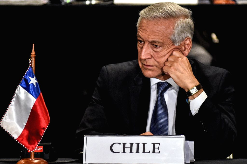 """VINA DEL MAR, March 16, 2017 - Chile's Foreign Minister Heraldo Munoz attends a press conference after the """"High Level Dialogue on Integration Initiatives in the Asia-Pacific Region: Challenges ... - Heraldo Munoz"""