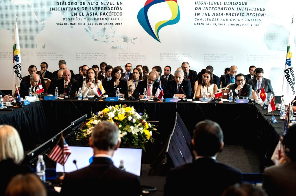 """VINA DEL MAR, March 16, 2017 - Representatives attend the """"High Level Dialogue on Integration Initiatives in the Asia-Pacific Region: Challenges and Opportunities"""" in Vina del Mar, Chile, ..."""