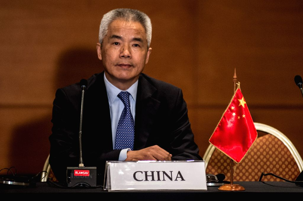 """VINA DEL MAR, March 16, 2017 - Yin Hengmin, China's special representative on Latin American affairs, attends a press conference after the """"High Level Dialogue on Integration Initiatives in the ..."""
