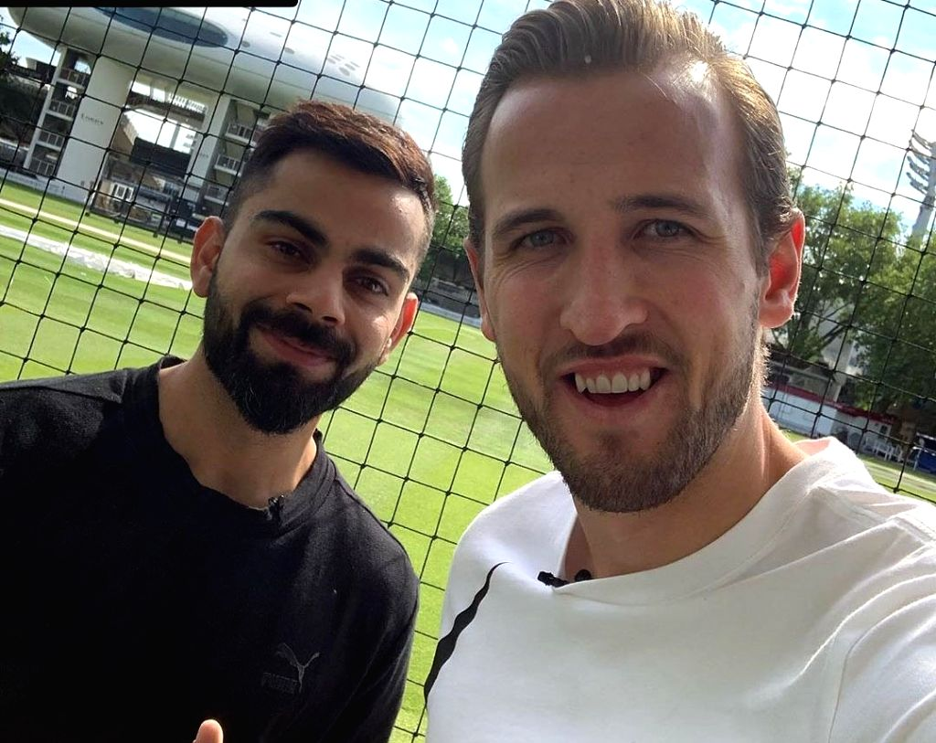 Virat Kohli and Harry Kane. (Photo: Twitter/@imVkohli) - Virat Kohli