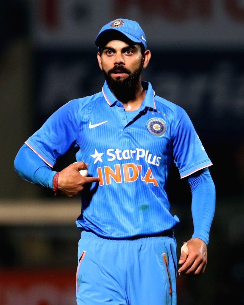 Virat Kohli of India during the fifth ODI match between India and New Zealand at Dr. Y.S. Rajasekhara Reddy ACA-VDCA Cricket Stadium in Visakhapatnam on Oct 29, 2016. - Virat Kohli