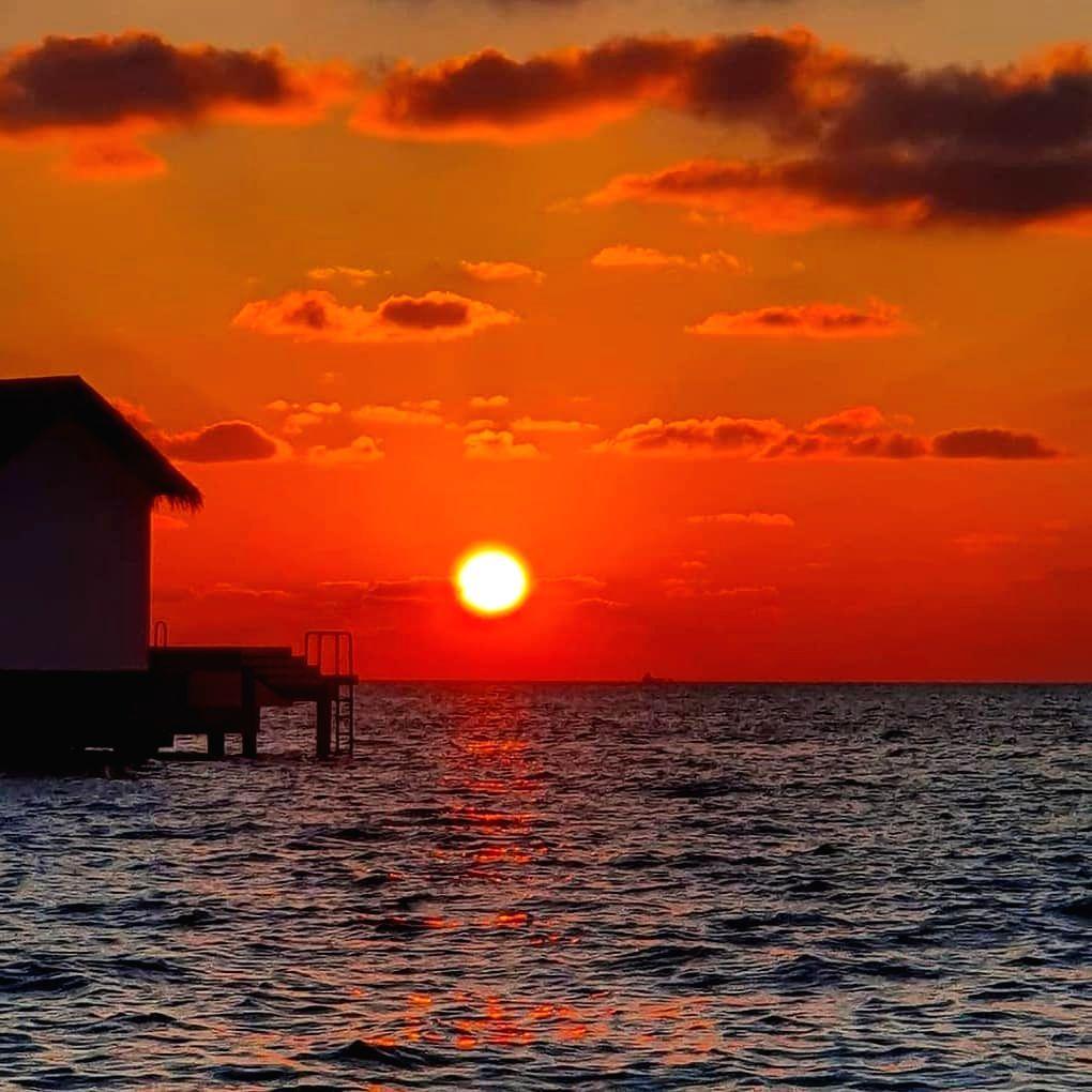 Virtual tourism: LA, Maldives livestream twilight calm.
