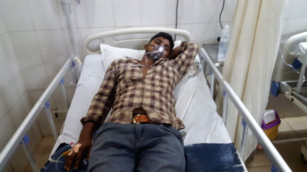 Visakhapatnam: A person receiving treatment at a hospital after two persons died and four others took ill in a gas leak at a pharmaceutical unit in Visakhapatnam on Monday night, the second industrial disaster to strike the port city in less than two