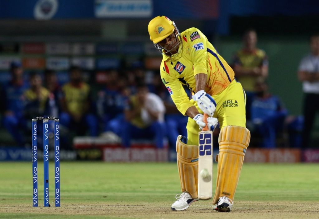 Visakhapatnam: Chennai Super Kings' skipper MS Dhoni in action during the 2nd Qualifier match of IPL 2019 between Chennai Super Kings and Delhi Capitals at Dr. Y.S. Rajasekhara Reddy Cricket Stadium in Visakhapatnam, on May 10, 2019. (Photo: Surjeet  - MS Dhoni and Surjeet Yadav