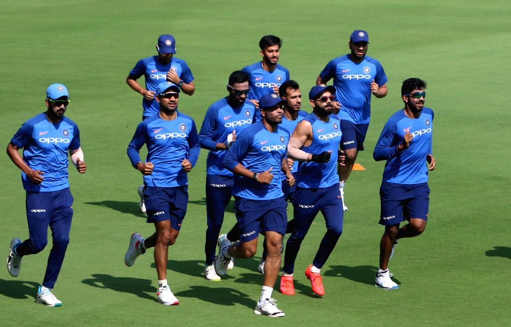 Visakhapatnam: Team India during a practice session ahead of the 1st T20I match against Australia at ACA-VDCA Cricket Stadium in Visakhapatnam on Feb 23, 2019. (Photo: Surjeet Yadav/IANS) - Surjeet Yadav