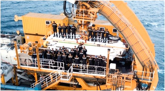 Visakhapatnam: The Deep Submergence Rescue Vehicle (DSRV) based at Visakhapatnam, successfully undertook a live mating exercise, which included personnel transfer from the bottomed submarine, INS Sindhudhvaj, simulating as a distress submarine to sur