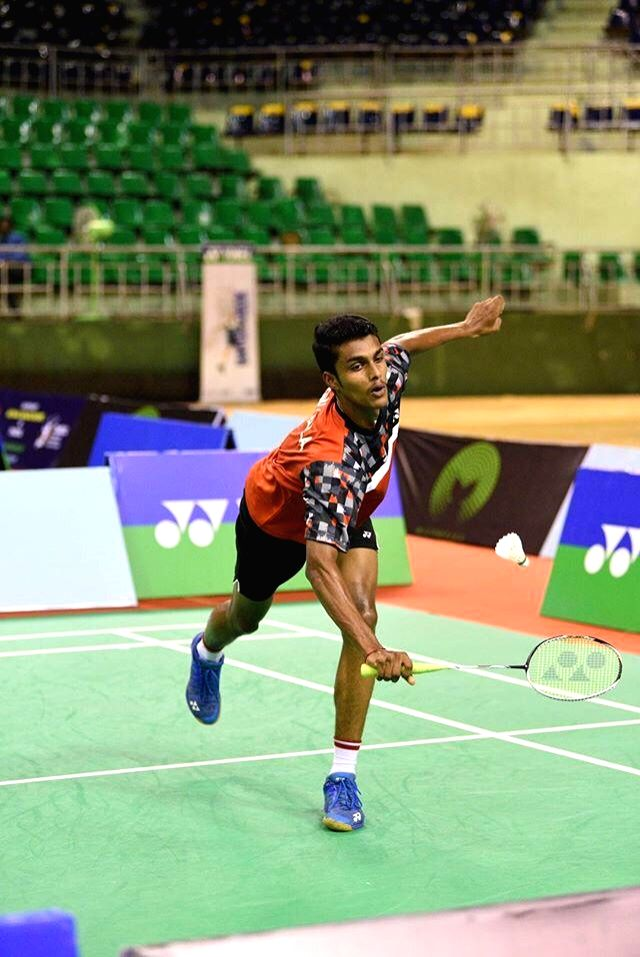 Vishnu Vardhan in action during Badminton Asia Junior Championships 2019 at the Suzhou Olympic Sports Centre in China on July 25, 2019.