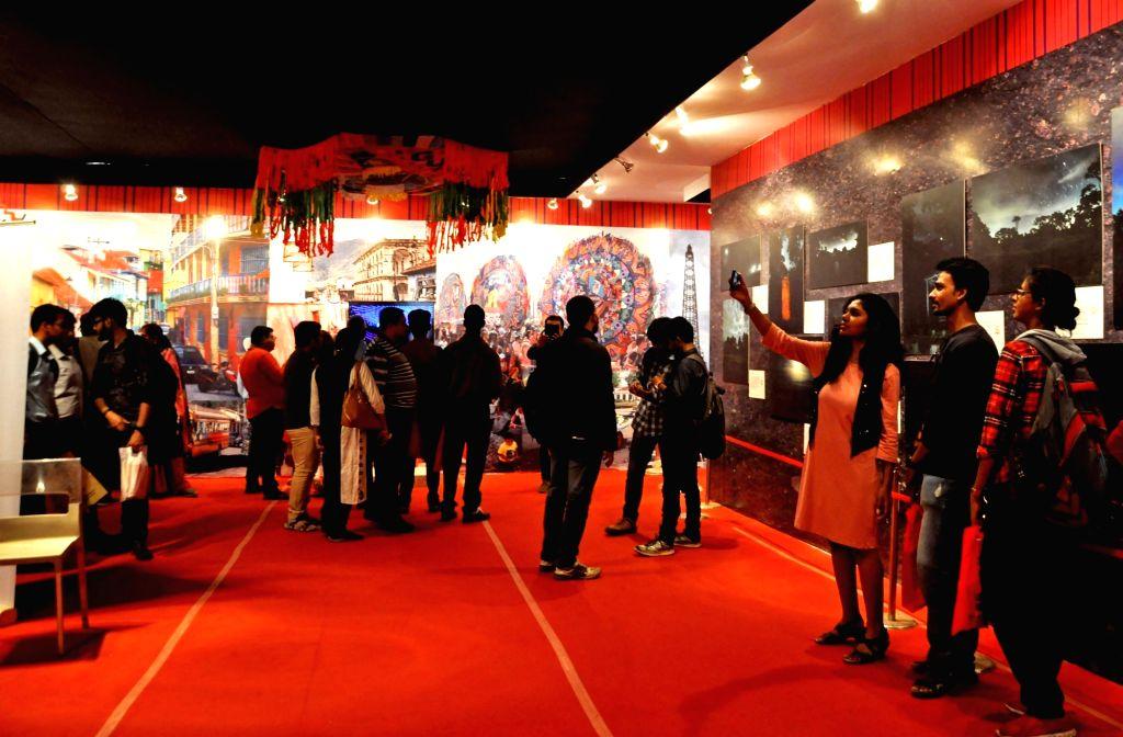 Visitors at 43rd Kolkata International Book Fair in Kolkata on Feb 8, 2019.