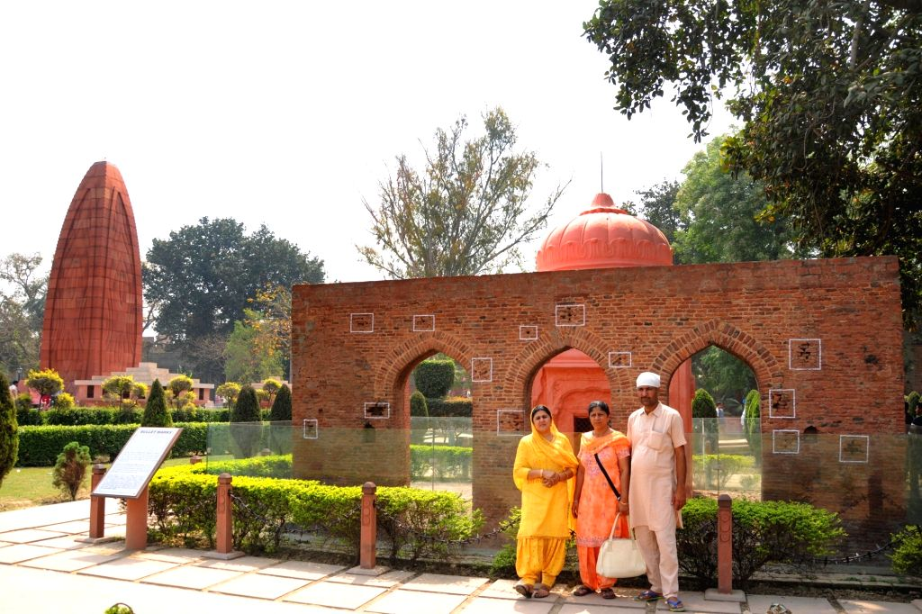Visitors at Jallianwala Bagh on its centenary celebrations in Amritsar, on April 10, 2019.