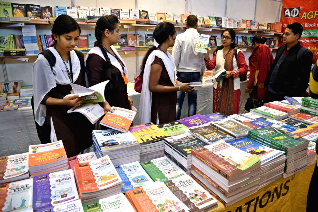 Visitors at Patna Book Fair on Dec 5, 2017.