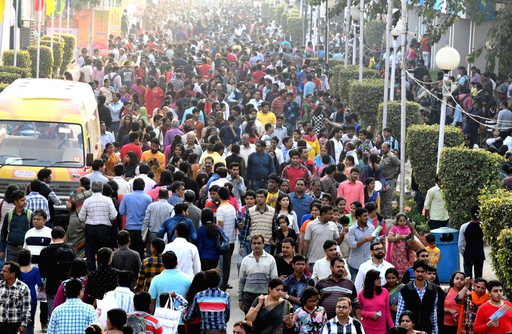 Visitors at the International Trade Fair (IITF)-2016 at Pragati Maidan in New Delhi on Nov 20, 2016.