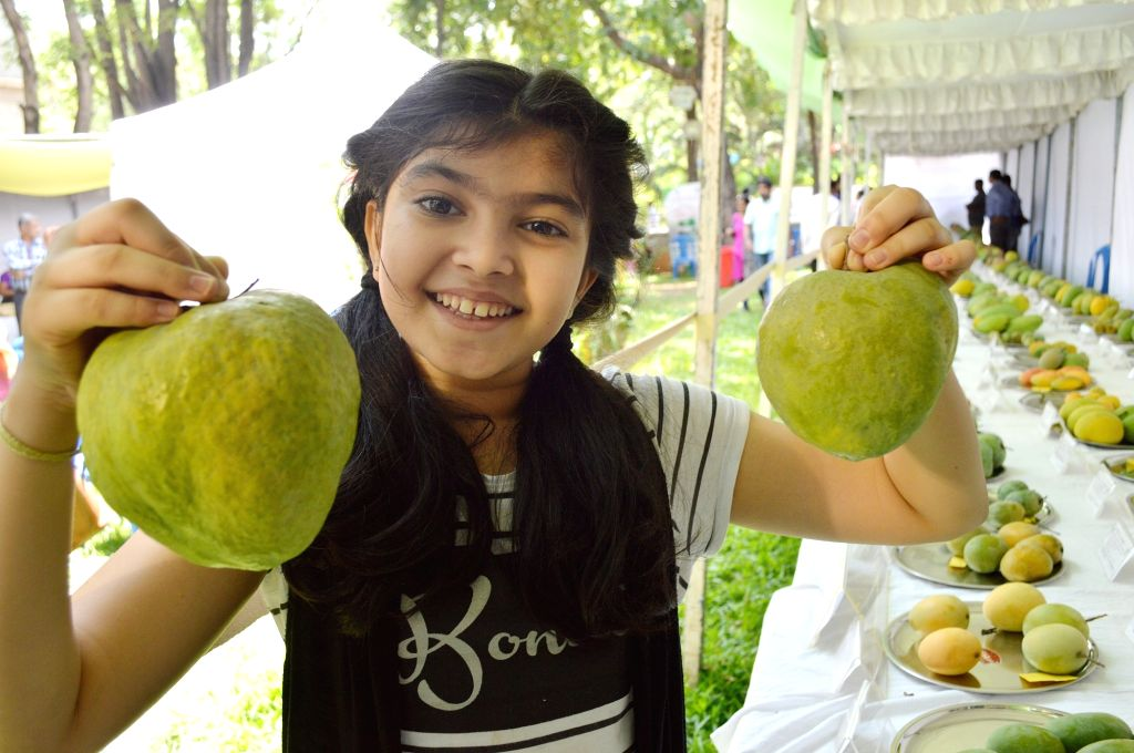 Visitors at the 'Mango and Jackfruit Diversity Fair' in Bengaluru, on June 1, 2019.