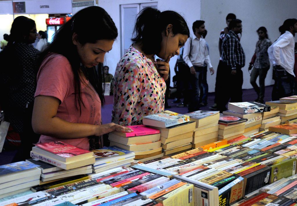 Visitors during 20th Delhi Book Fair-2014 at Pragati Maidan, New Delhi on Aug 24, 2014.
