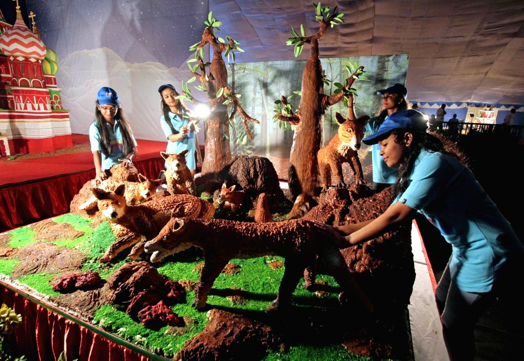 Visitors during Annual Cake Show 2019 organised at St Josephs School Grounds, in Bengaluru on Dec 11, 2019.