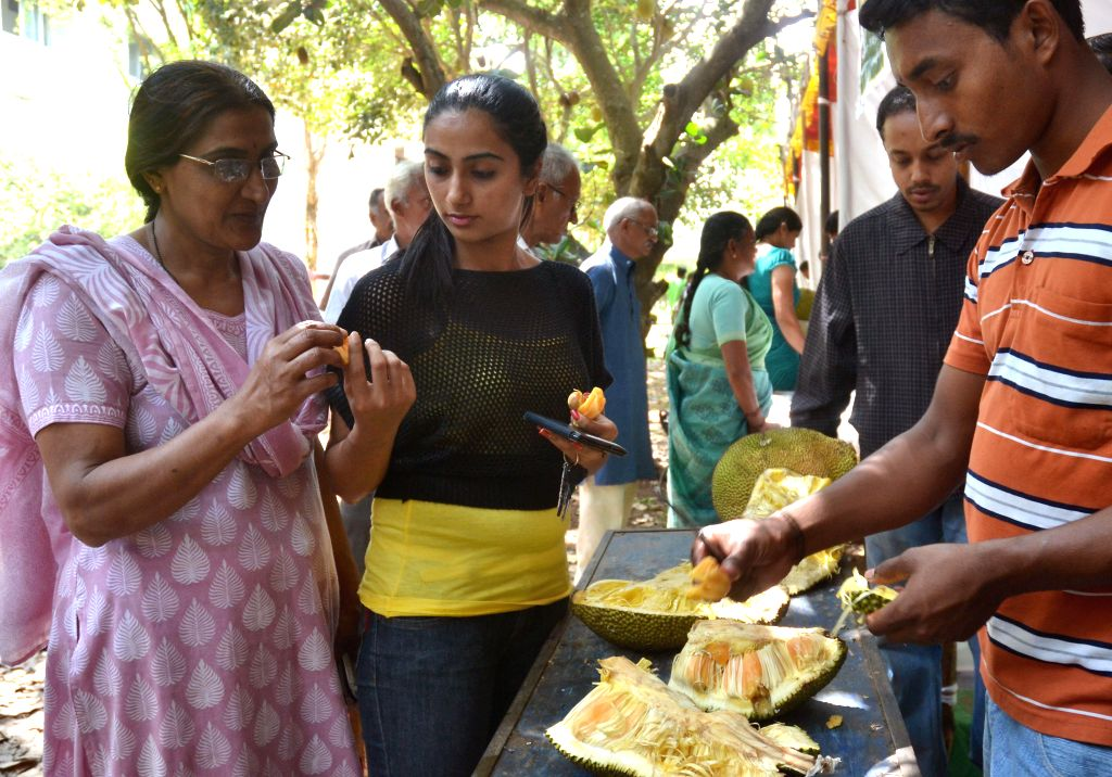 "Visitors during International Symposium on ""Jackfruit and Breadfruit of the Tropics"" organised by University of Agricultural Sciences and Department of Biotechnology at GKVK campus in ..."