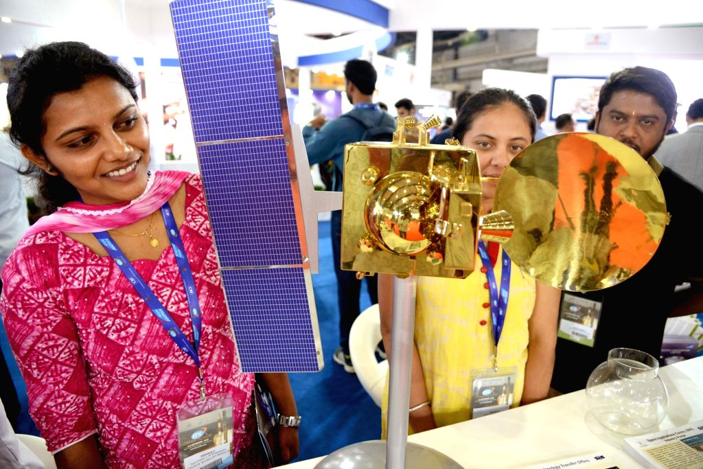 Visitors during the 6th Bengaluru Space Expo (BSX) 2018, in Bengaluru on Sept 6, 2018.