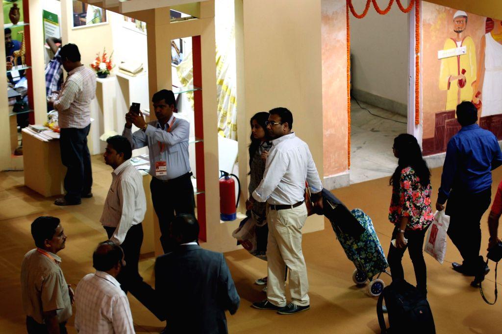 Visitors during trade fair at India International Trade Fair(IITF) - 2015 at Pragati Maidan in New Delhi, on Nov 16, 2015.
