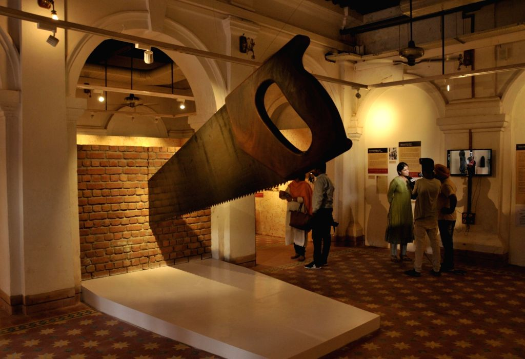 Visitors look at the installations of the newly inaugurated Partition Museum in Amritsar on Aug 17, 2017.