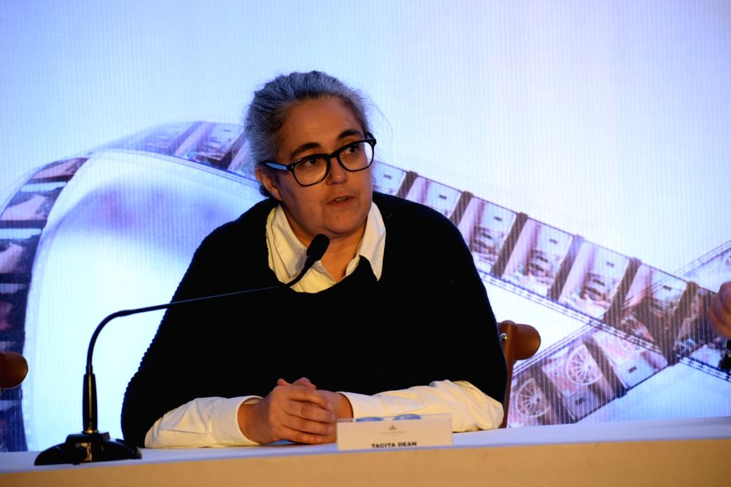Visual artrist Tacita Dean during a three-day event 'Reframing the Future of Film' organised by Film Heritage Foundation (FHF), in Mumbai on March 31, 2018.