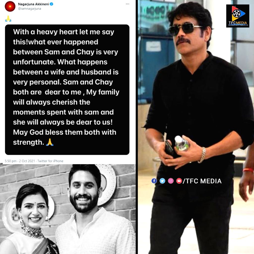 VISUAL FOR Tollywood's dream couple Chay-Sam announce separation; Nagarjuna reacts with sweet note