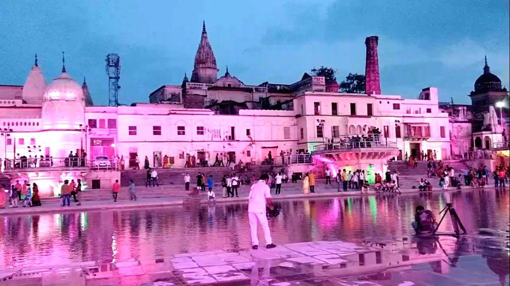 Visuals from Ayodhya on the eve of Ram Mandir Bhumi Pujan.